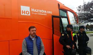 El vehículo, sin rótulos, ha llegado a la capital navarra este martes.
