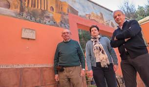 Javier Caamaño, Asun Jover y Maxi Ruiz de Larramendi, miembros de la junta de la asociación.