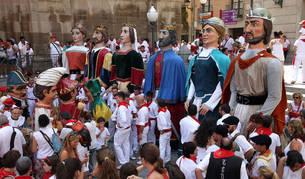 Imagen de la Comparsa de Gigantes y Cabezudos de Tudela.