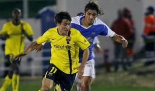 Imagen del partido de Copa disputado entre el Benidorm y el Barça en 2008