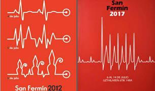 Comparativa del cartel presentado en 2012 con el de 2017