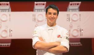 Aáron Ortiz García, pamplonés de 21 años, en un momento de la semifinal del concurso Granachef.
