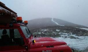 Imagen de un vehículo de los bomberos.