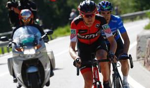 Van Garderen por delante de Landa durante la etapa del Giro