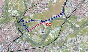 El Camino de Caparroso se cerrará para no residentes en dirección a Burlada