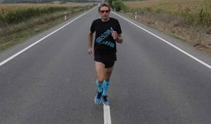 Ricardo Abad realizando una maratón en el año 2014.