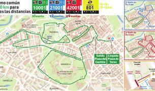 La bajada de la calle Curia se recorrerá este año sólo en los tramos finales de 42K, 21K y el último relevo.