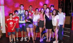 Foto de un grupo de los Scouts Católicos de Navarra Jairoi acudieron a la fiesta de ayer por la tarde en Enter