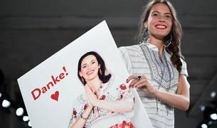 Uno de los desfiles por la semana de la moda berlinesa
