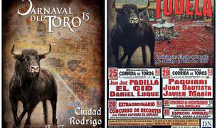 Cartel de la feria taurina de Tudela 2017 y elCartel del Carnaval del Toro de 2015