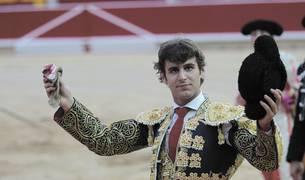 NOVILLADA. Javier Marin dio la vuelta al ruedo el año pasado en Pamplona con la oreja que le cortó a 'Barrenero'.