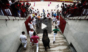 Vídeo del séptimo encierro de San Fermín 2017