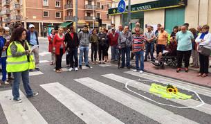 Concentración en protesta por los atropellos en Pamplona