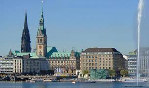 Vista de la ciudad alemana de Hamburgo.