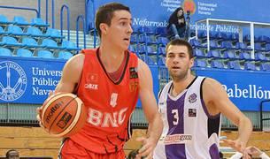 Yárnoz con la elástica del Basket Navarra la temporada pasada
