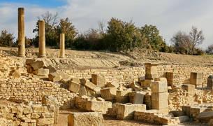 La ciudad romana de Santa Criz ya es visitable gracias a las diversas tareas de consolidación y acondicionamiento.