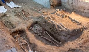 Imagen de una de las zonas excavadas en la antigua iglesia de San Nicolás de Tudela.