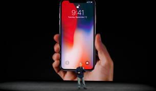 Imagen de la presentación del iPhone X.