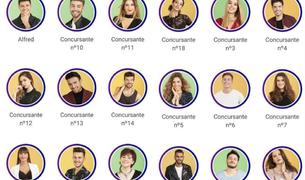 Fotografías de los 18 concursantes de OT, filtradas en la 'app' oficial del programa.
