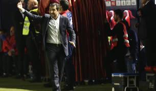 Diego Martínez, durante el choque del viernes.