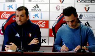 Diego Martínez, en la rueda de prensa de este viernes.