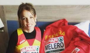 Maitane Melero, posando lista para salir del hotel hacia el circuito del Europeo ayer en Eslovaquia.