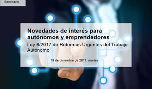 Curso sobre la nueva ley de autónomos organizado por el Club de Márketing de Navarra.
