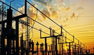 Imagen de una instalación eléctrica de alta tensión