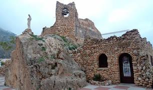 Mirador de la Virgen de la Peña, situado en el núcleo urbano de Sepúlveda.