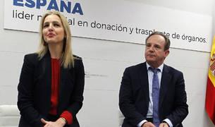 La directora de la Organización Nacional de Trasplantes (ONT), Beatriz Domínguez-Gil y el fundador de la organización, Rafael Matesanz.