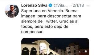 Mensaje con el que Silva se despedió de sus seguidores.