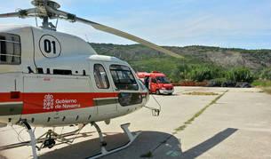 foto de Helicóptero medicalizado del Gobierno de Navarra.