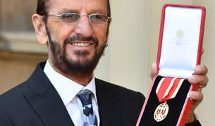 Imagen de Ringo Starr tras recibir el nombramiento.