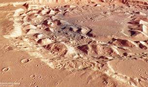 Imagen tomada del cráter