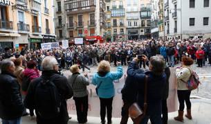 La manifestación ha partido de la plaza del Ayuntamiento.