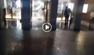 Inundación en el hospital de Cruces.
