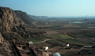 Imagen aérea de terreno agrícola en San Adrián.
