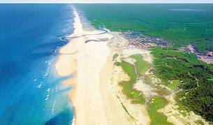 Imagen aérea de Las Landas