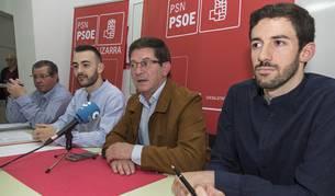 Desde la izquierda, Ignacio Sanz de Galdeano, Jorge Crespo, José Ángel Izcue e Ibai Crespo.