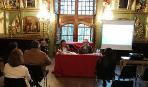 Un momento de la presentación de la Organización Profesional de Congresos de Navarra.