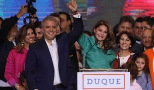 foto de El presidente electo de Colombia, el uribista Iván Duque celebrando su victoria en las elecciones.