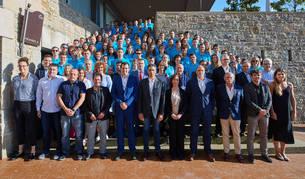 Con Miguel Induráin a la cabeza, la Gala de la Fundación Induráin reunió a decenas de deportistas este martes en Gorraiz.