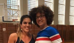 Encuentro en Zizur entre las jugadoras internacionales Marta Xargay y Laura Nicholls
