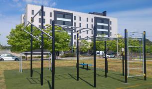 El nuevo parque de calistenia instalado en la zona del velódromo.