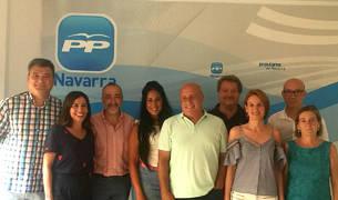 Foto de grupo de la nueva Junta Local del PPN de Tudela.