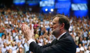 Mariano Rajoy, tras su intervención en el XIX Congreso Nacional del PP en Madrid.