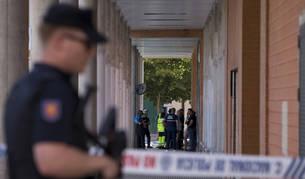 Policía Nacional, Policía Municipal, bomberos y sanitarios, el domingo, en San Jorge.