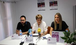 De izquierda a derecha, Nacho Reviriego, Aurora Lozano y Ana Remírez de Ganuza, en la presentación de los actos.