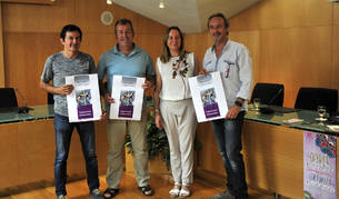 Desde la izda., Pablo Bolea, José Ignacio Moros, Imelda Mañeru y Arturo Goldaracena.