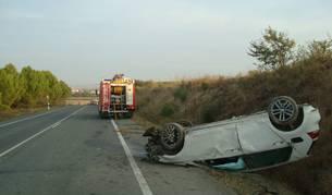 Estado del vehículo tras el accidente.